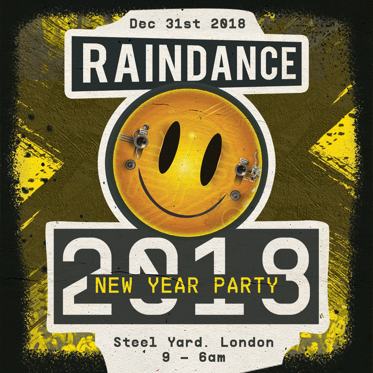RAINDANCE RETURNS TO THE STEEL YARD ON NEW YEARS EVE!!